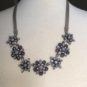 Anne Taylor LOFT Crystal Flower Necklace